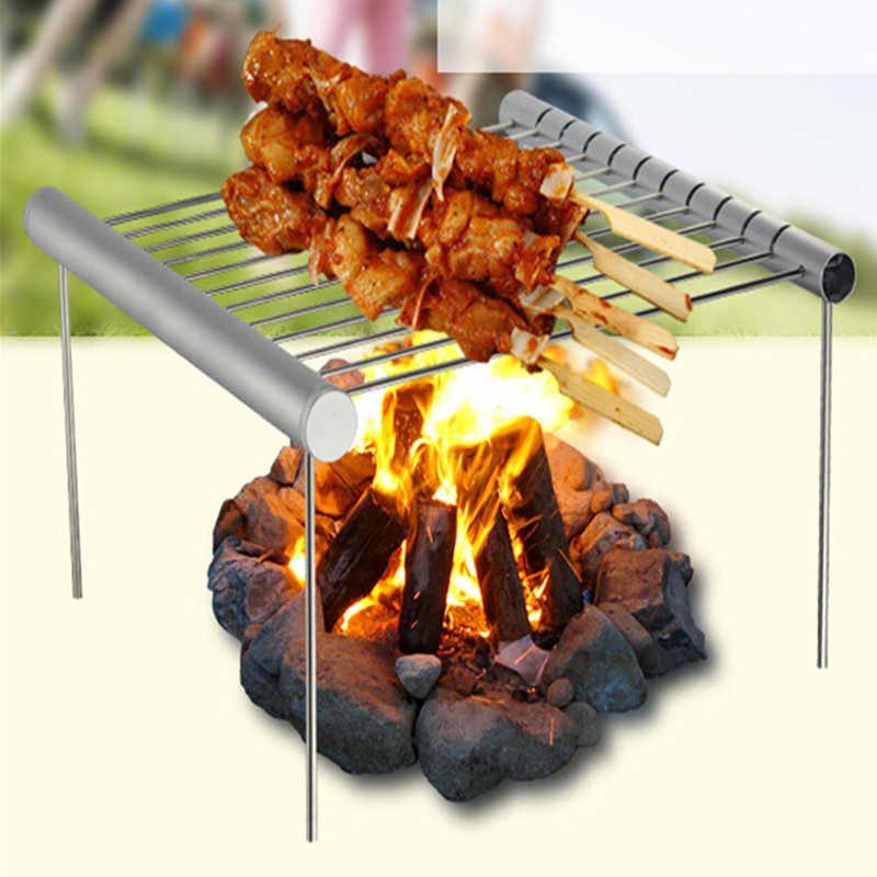 Stainless Steel Foldable Barbecue Grill Grate | Fraser's