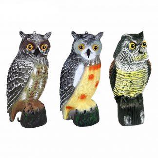 Resin Owl Garden Sculpture