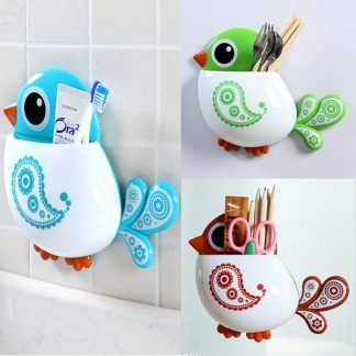 Cartoon Bird Toothbrush Holder