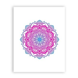 Beautiful Mandala Ornament Yoga Wall Art Print Poster