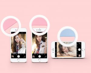 Various was to clip the LED Selfie Ring Light on your phone