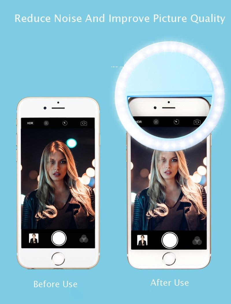 Effect using LED Selfie Ring Light