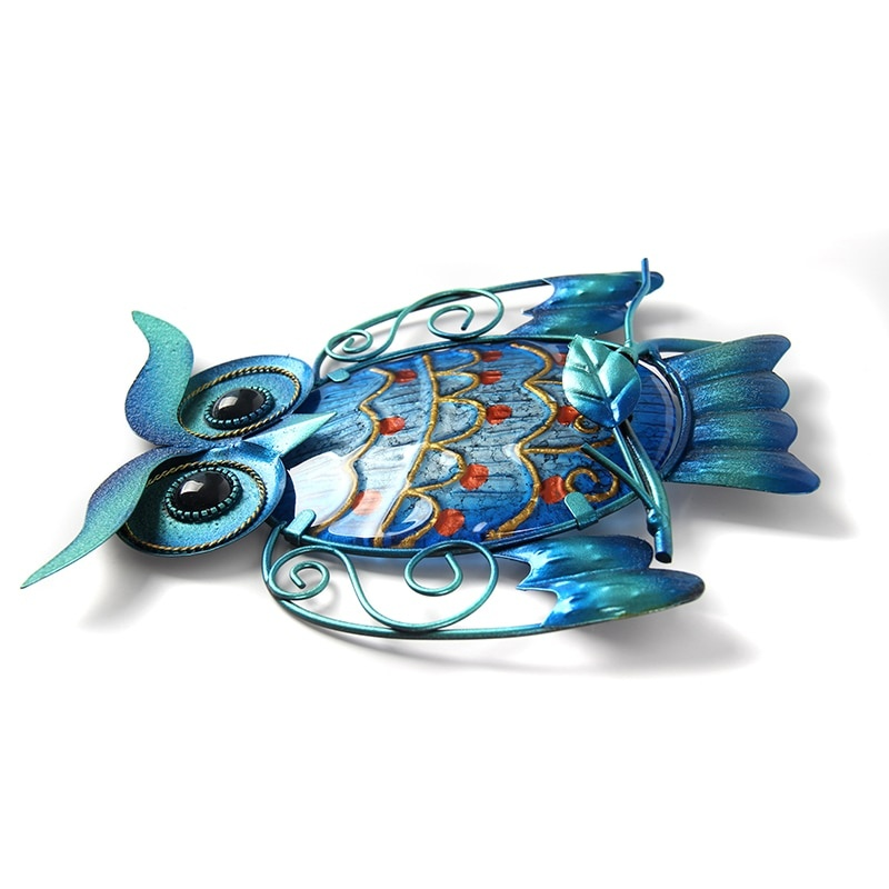 Metal Owl Shaped Sculpture